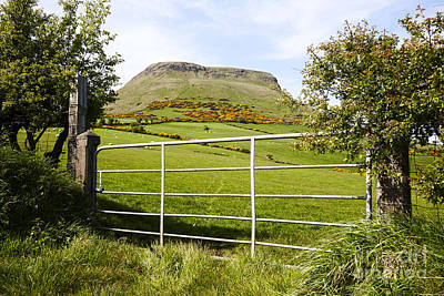 Joe Fox Fine Art - Lurigethan Mountain Glenariff County Antrim Ireland Poster by Joe Fox