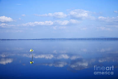 Joe Fox Fine Art - Still Lough Neagh Reflecting The Sky Northern Ireland Poster