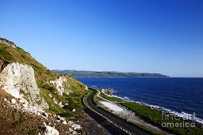 Joe Fox Fine Art -the A2 Antrim Coast Road Filming Location For The Sons Of Anarchy Visit To Ireland Poster by Joe Fox