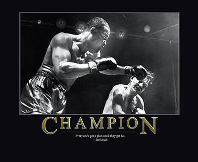 Joe Louis Champion  Poster