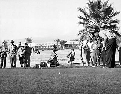 Joe Louis Golfing Poster