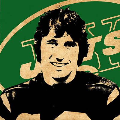 Joe Namath Poster by Andrew Fare