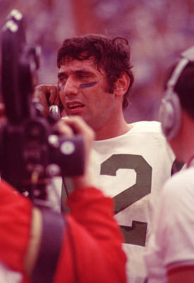 Joe Namath Talking It Over Poster by Retro Images Archive