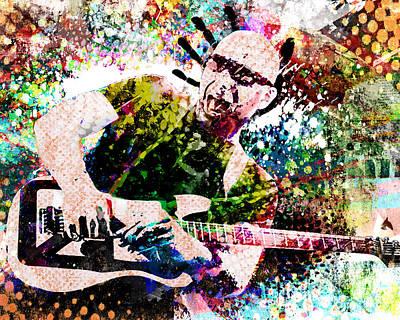 Joe Satriani Original Art Poster by Ryan Rock Artist