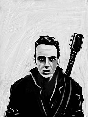 Poster featuring the painting Joe Strummer by Jeff DOttavio