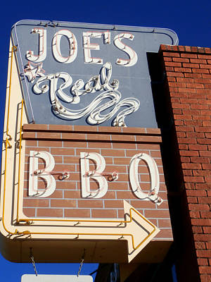 Joes Real Bbq Poster by Karyn Robinson