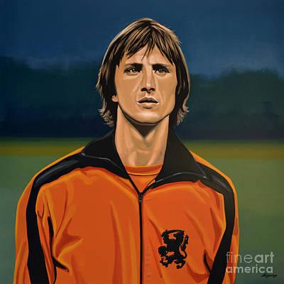 Johan Cruyff Oranje Poster by Paul Meijering