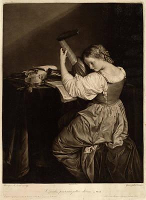 Johann Bernard After Orazio Gentileschi Formerly Caravaggio Poster by Quint Lox