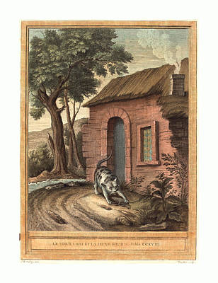 Johann Christoph Teucher After Jean-baptiste Oudry German Poster by English School