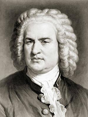 Nuovo Poster Artistico Johann Sebastian Bach di Johann Ernst Rentsch//Bridgeman Images Poster 30 x 40 cm Stampa Artistica Professionale