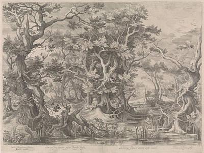 Johannes De Doper Praying In A Morass Landscape Poster