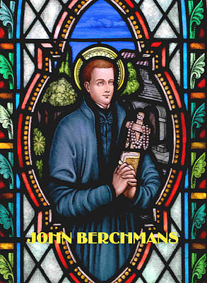 John Berchmans In Stained Glass Poster