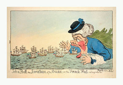 John Bull, The Leviathan Of The Ocean Or The French Fleet Poster by English School