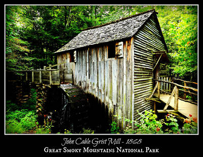John Cable Grist Mill - Poster Poster by Stephen Stookey