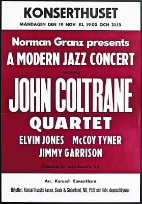 John Coltrane Quartet In Sweden Poster by Bill Cannon