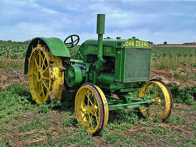 John Deere Tractor Hdr Poster by Ken Smith