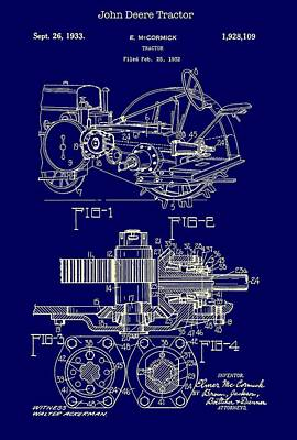 John Deere Tractor Patent 1933 Poster by Mountain Dreams