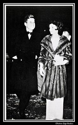 John F Kennedy And Jacqueline Attending First Dinner Poster by Audreen Gieger-Hawkins