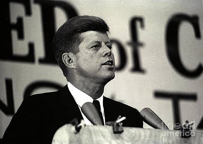 John F. Kennedy Speaking, 1963 Poster