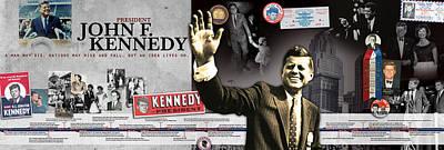 John F. Kennedy Timeline Panorama Poster