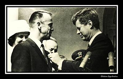 John F Kennedy With Astronaut Alan B Shepard Jr Poster