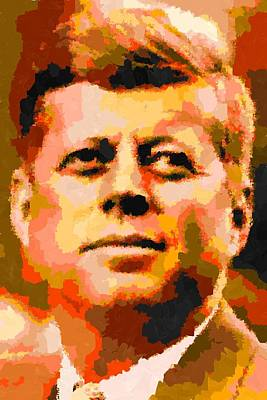 John Fitzgerald Kennedy - Abstract Poster