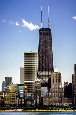 John Hancock Center Building In Chicago Poster by Paul Velgos
