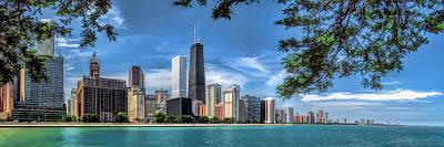 John Hancock Chicago Skyline Panorama Poster by Christopher Arndt