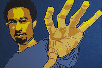 Poster featuring the painting John Legend by Rachel Natalie Rawlins