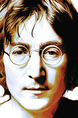 John Lennon Artwork Poster by Sheraz A