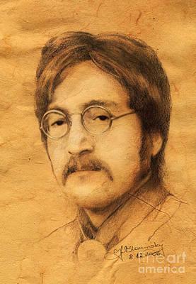 John Lennon Poster by Jaroslaw Blaminsky
