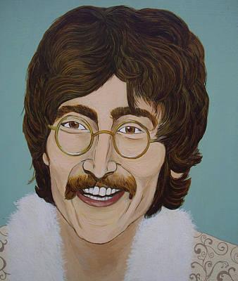 John Lennon Poster by Linda Kassabian