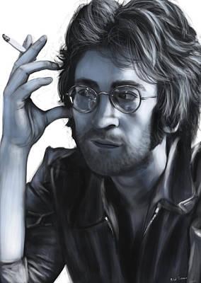 John Lennon Poster by Michael Tiscareno