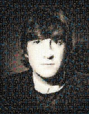 John Lennon Mosaic Image 3 Poster by Steve Kearns