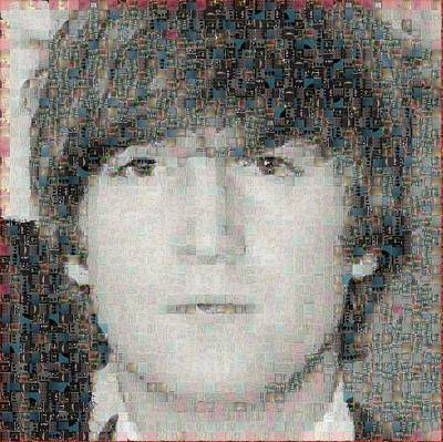 John Lennon Mosaic Image 6 Poster by Steve Kearns