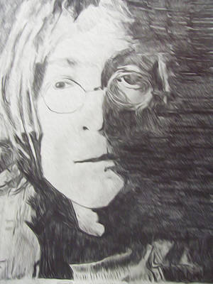 John Lennon Pencil Poster by Jimi Bush