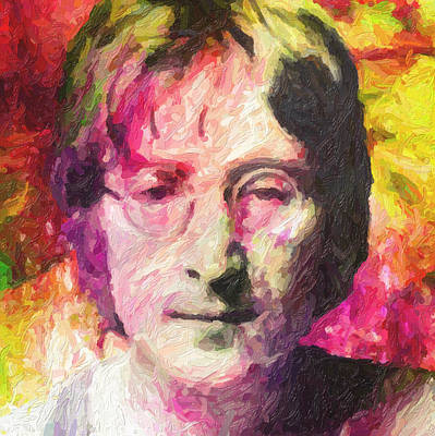 John Lennon Poster by Taylan Apukovska
