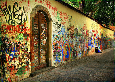 John Lennon Wall Poster by Wendell Thompson