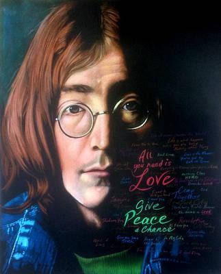 John Lennon - Wordsmith Poster by Robert Korhonen