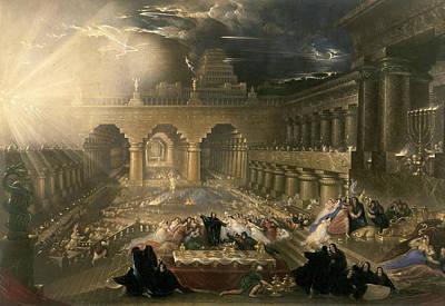 John Martin, Belshazzars Feast, British Poster by Quint Lox