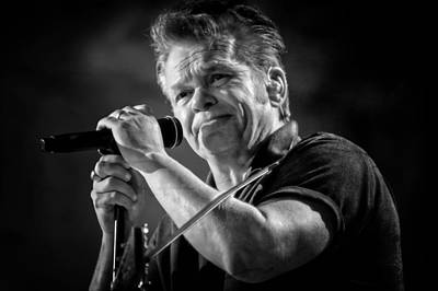 John Mellencamp In Black And White - Farm Aid Poster by Jennifer Rondinelli Reilly - Fine Art Photography