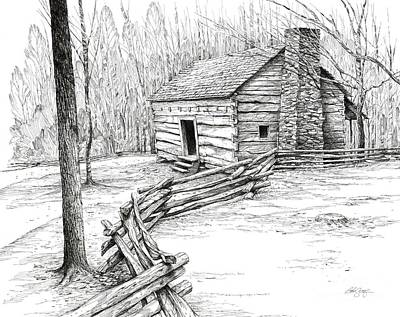 John Ownby Cabin Poster by Bob  George