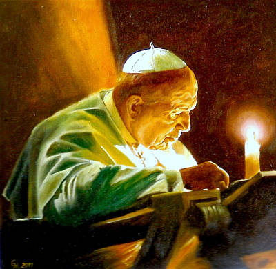 Poster featuring the painting John Paul II by Henryk Gorecki