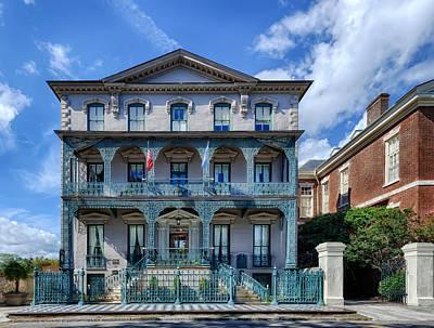 John Rutledge House - Charleston Poster by Frank J Benz