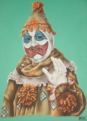 John Wayne Gacy As Pogo The Clown Poster
