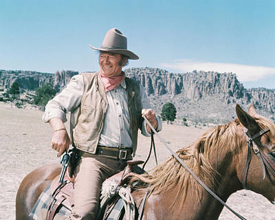 John Wayne In Chisum  Poster by Silver Screen