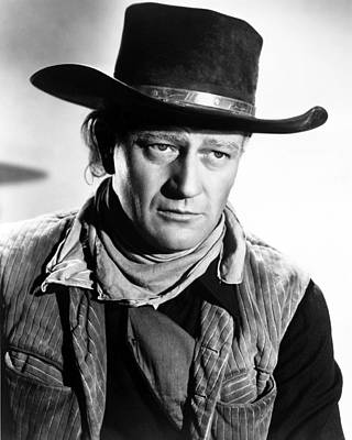 John Wayne In Red River  Poster