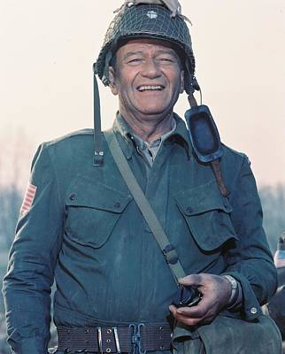 John Wayne In The Longest Day Poster
