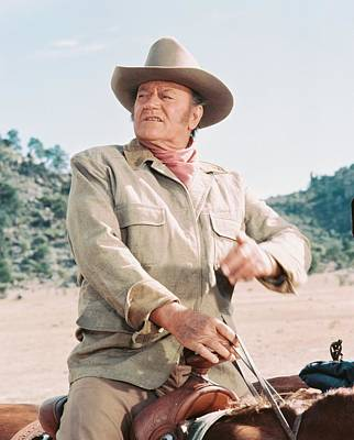 John Wayne In The Undefeated Poster by Silver Screen