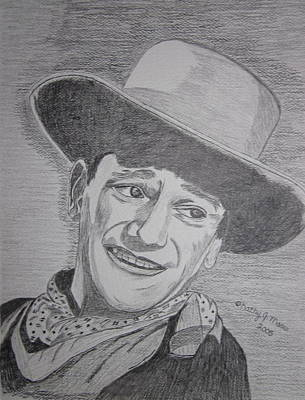 Poster featuring the painting John Wayne by Kathy Marrs Chandler